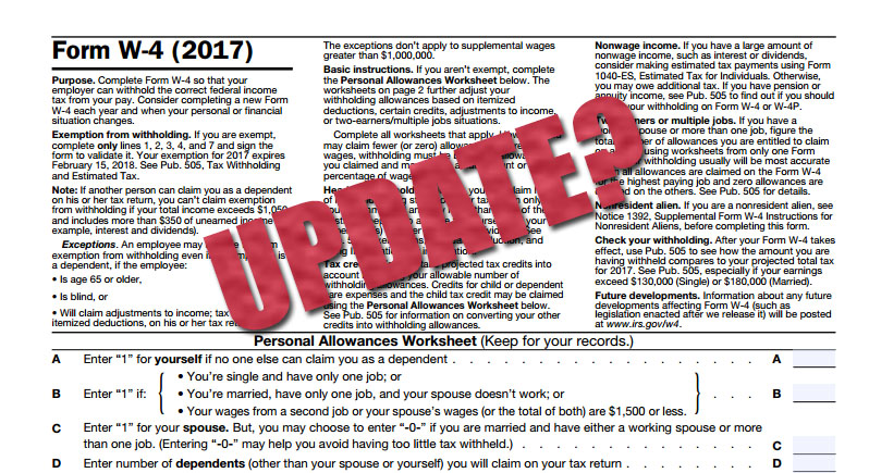 How Often Should An Employee Update Their W4 Form? - Arch Resource